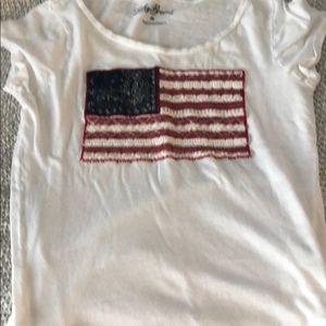 Lucky brand flag shirt